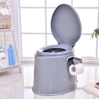 5l Portable Camp Toilet Travel Camping Hiking Picnic Festival Potty Commode Loo Large Toilets Flush Toilet Commode