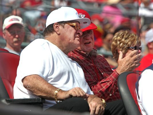 Expert: Rose situation is unprecedented as far as Hall. Photo: Pete Rose (left) watched the final Reds game of the 2014 season against the Pirates with Reds owner Bob Castellini (right). The Enquirer/Liz Dufour