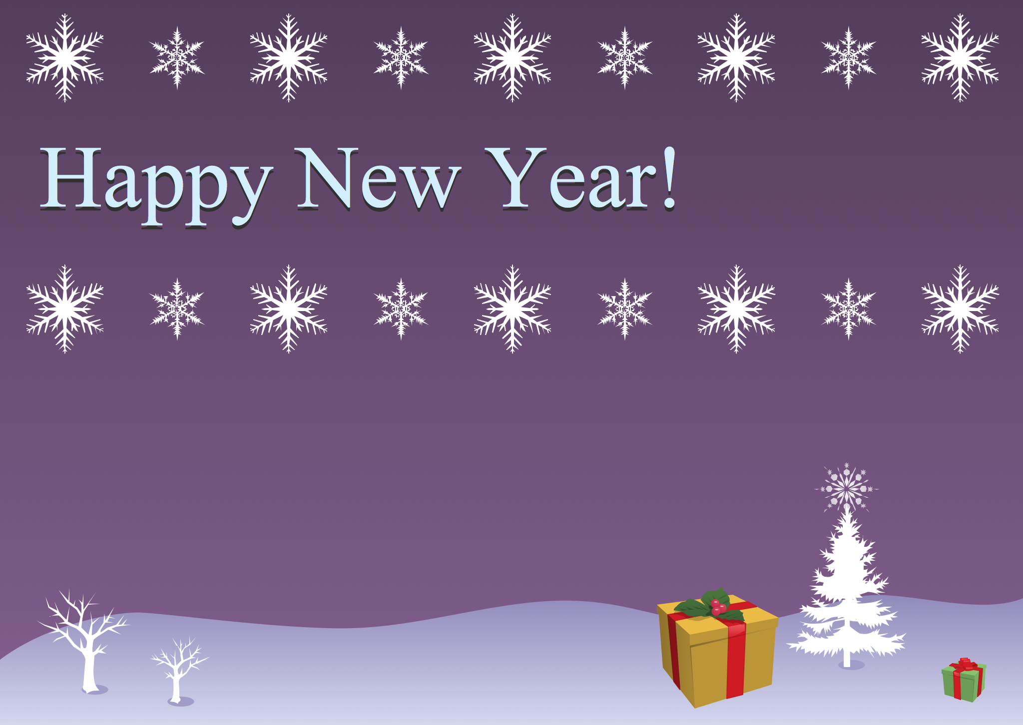Example Christmas Snowflakes And Gifts This Example Was Created In Conceptdraw Pro Using The New Year Card Greeting Card Template Holiday Greeting Cards