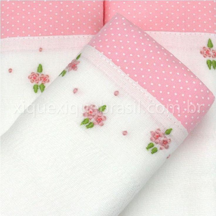 Conjunto de três fraldas borda | manta | Pinterest | Bordado, Bebe y ...