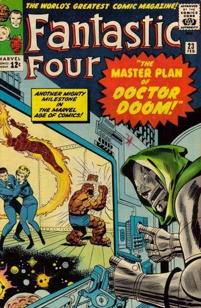 Fantastic Four #23. Dr Doom is back.