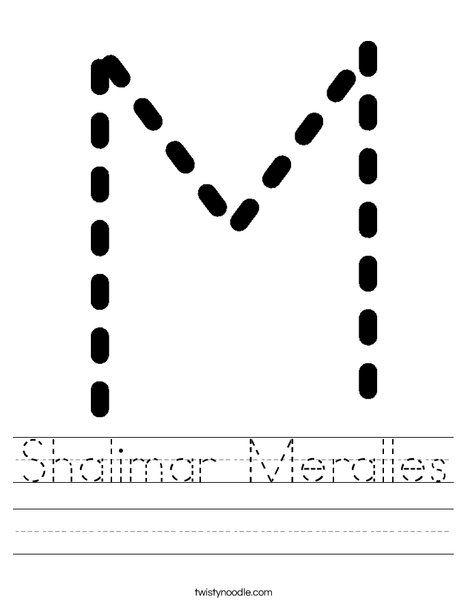 Shalimar Meralles Worksheet - Twisty Noodle | Letter m ...