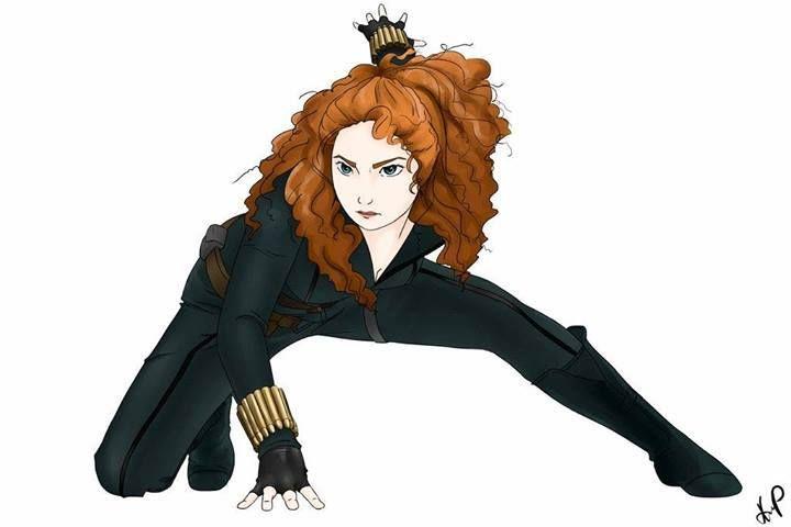 Merida as Black Widow