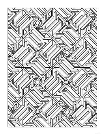 Creative Haven Tessellation Patterns Coloring Book Geometric Coloring Pages Coloring Books Pattern Coloring Pages