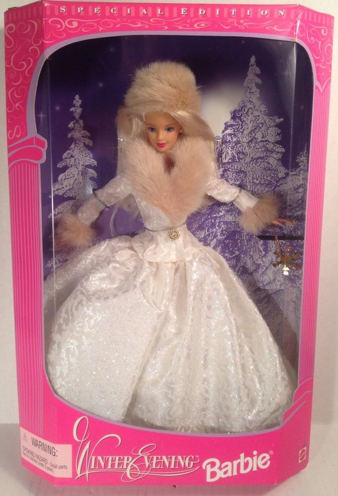 1998 Winter Evening Blonde Barbie Doll Special Limited