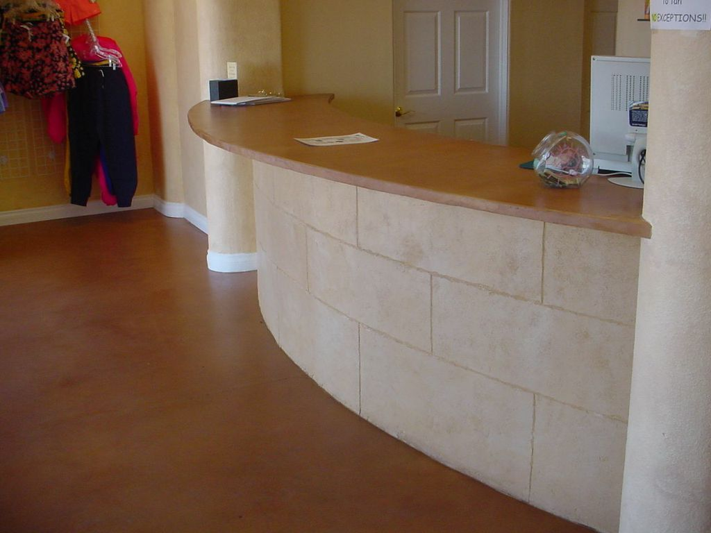 Las Vegas Body Heat Tanning Salon Counter And Floor Made With