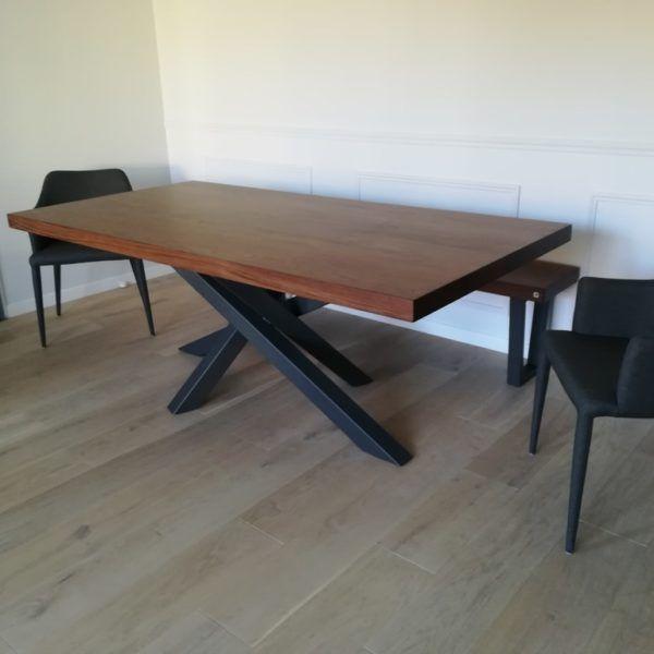 Table mikado en 2019 table salle manger table et - Table salle a manger design pied central ...