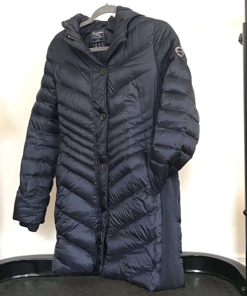Abercrombie Fitch Down Filled Hooded Puffer Jacket Coat Women S Size S Jackets Coats Jackets Women Puffer Jackets [ 1000 x 835 Pixel ]