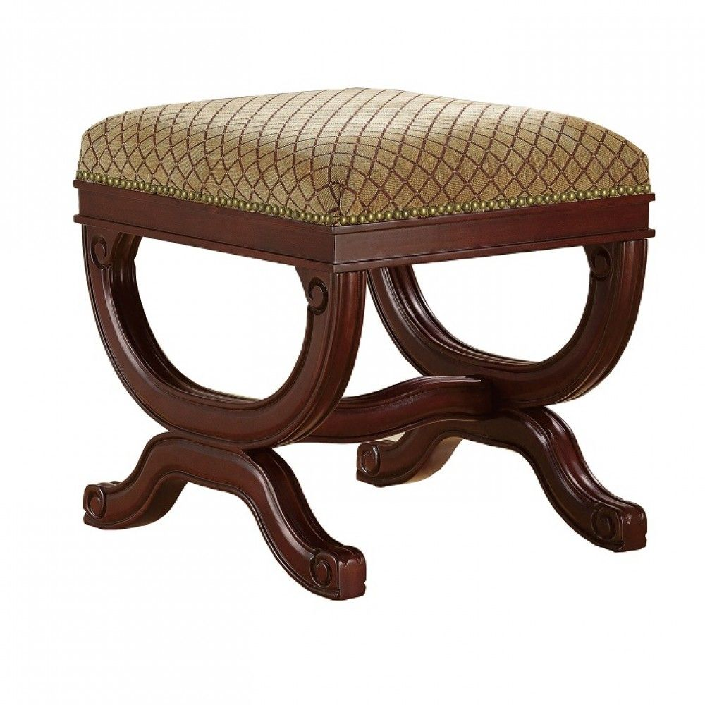 Linon Augusta Vanity Bench #accentfurniture #interiordesign #interior #decor #vanitybench #decor