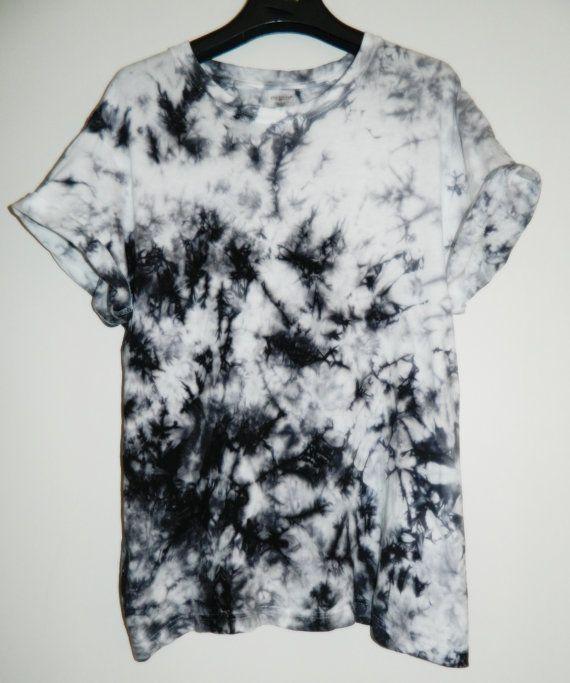 Tie Dye T Shirt Acid Wash T Shirt Hipster Festival Grunge Retro 80s