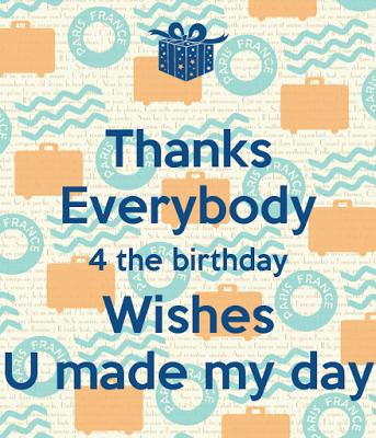 Thank You Whatsapp Status For Birthday Wishes Thanks Everyone