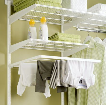 Elfa Clothes Airer Rod To Hang Dry Different Depths Of