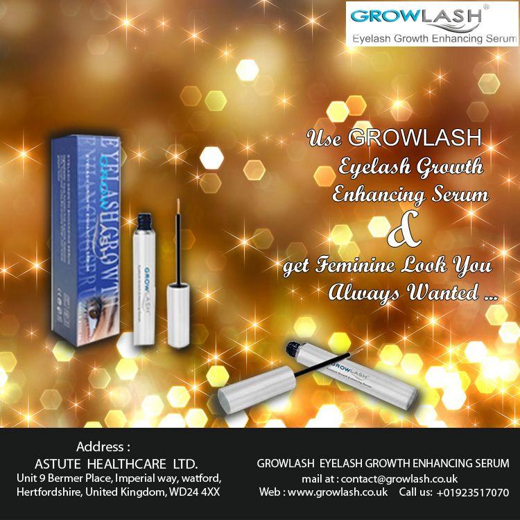 Use Grow Lash #Eyelash Growth Enhancing #Serum & get Feminine look you always wanted.