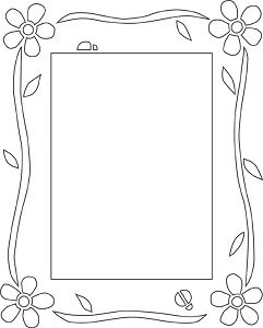 window frame coloring pages - photo#38