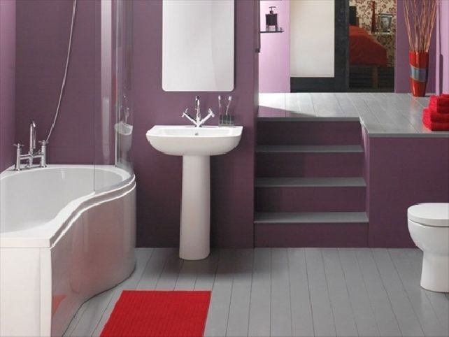 Charmant Grey Purple Bathroom Ideas