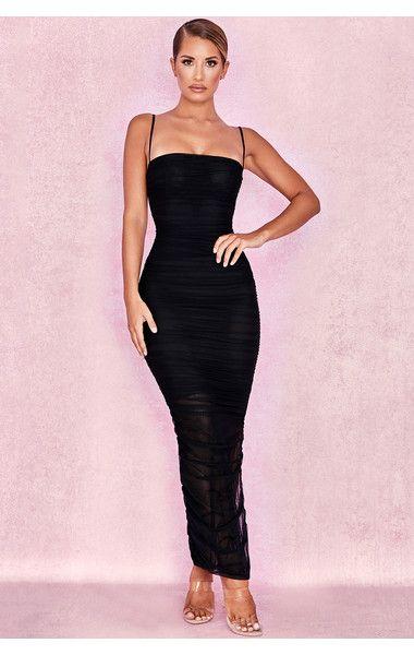 ae0c398813 Clothing : Max Dresses : 'Fornarina' Black Organza Mesh Maxi Dress ...