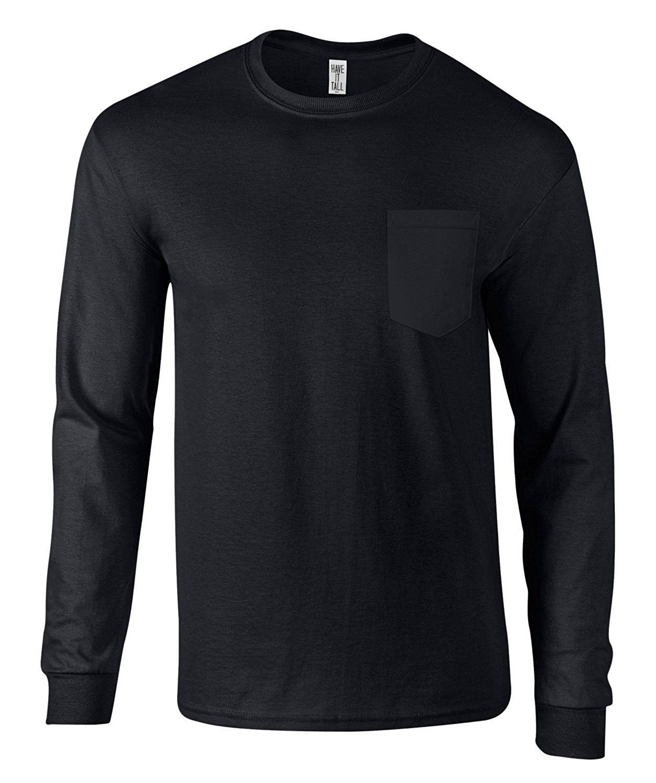 Men S Long Sleeve Pocket T Shirt Ringspun Cotton Made In Usa