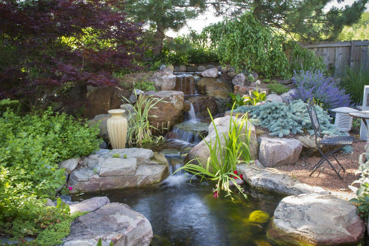 The healing power of water features falling waters for Waterfall features for ponds