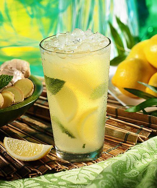 Lemon Ginger Mojito Bacardi Limon Domaine De Canton Ginger Liqueur Fresh Squeezed Sugar Cane Juice Club Soda Mint Ginger Mojito Ginger Liqueur Mint Mojito