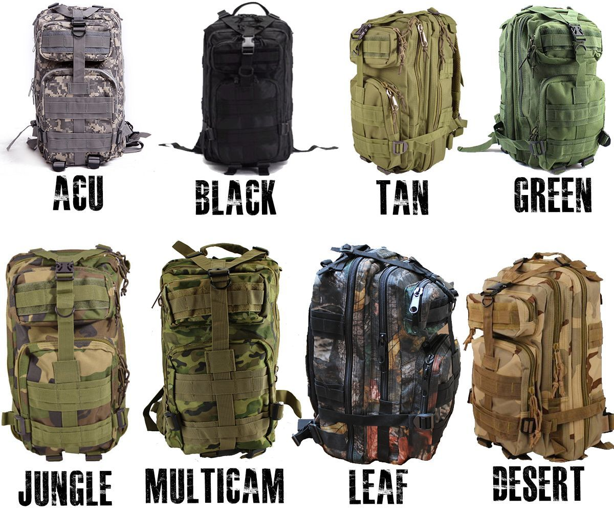 Outdoor Military Style Tactical Backpack | Military style, Bags ...