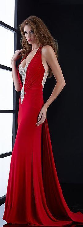 Sexy Natural Long Trumpet Sleeveless Evening Dress kiyadresses36524yhred #long #promdress