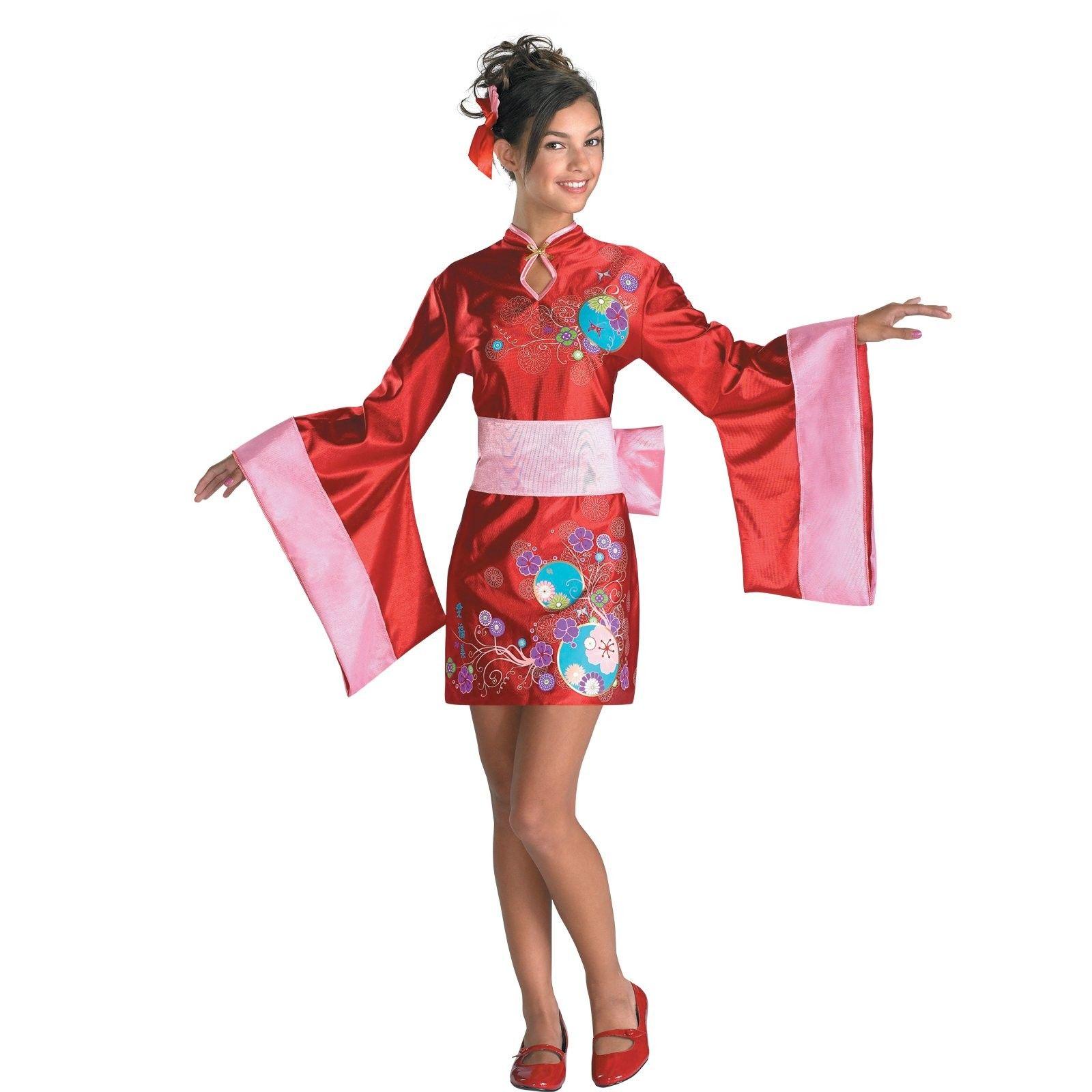 kimono kutie costume - includes: dress, obi belt, and hair