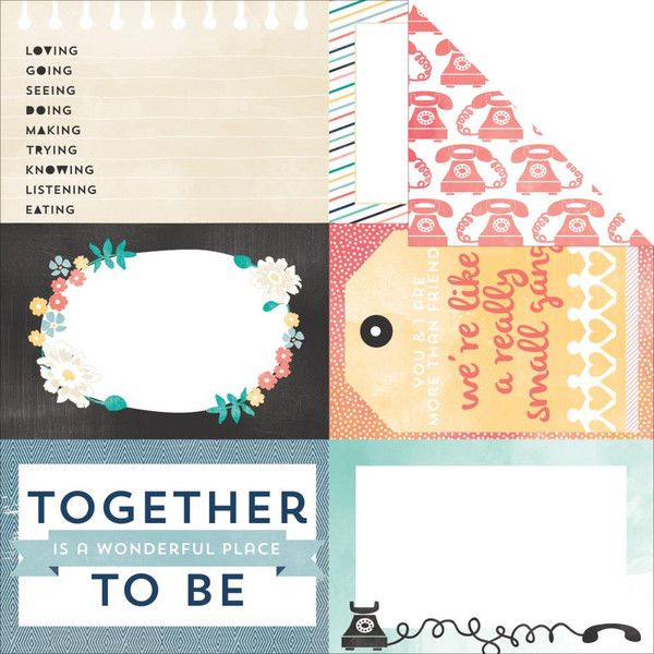 Together 12x12 Double Sided Paper Carta Bella Hello Again