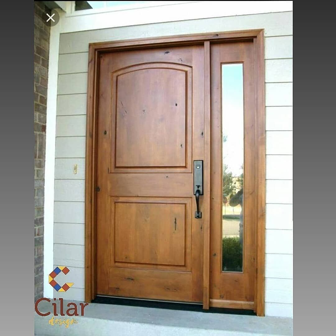 Minimalist Wooden Door Custom Wooden Door Cool Wooden Door P Pintu Kayu Minimalis Custom Pintu Kayu Pintu Kayu Ke Wooden Doors Decor Design New Homes