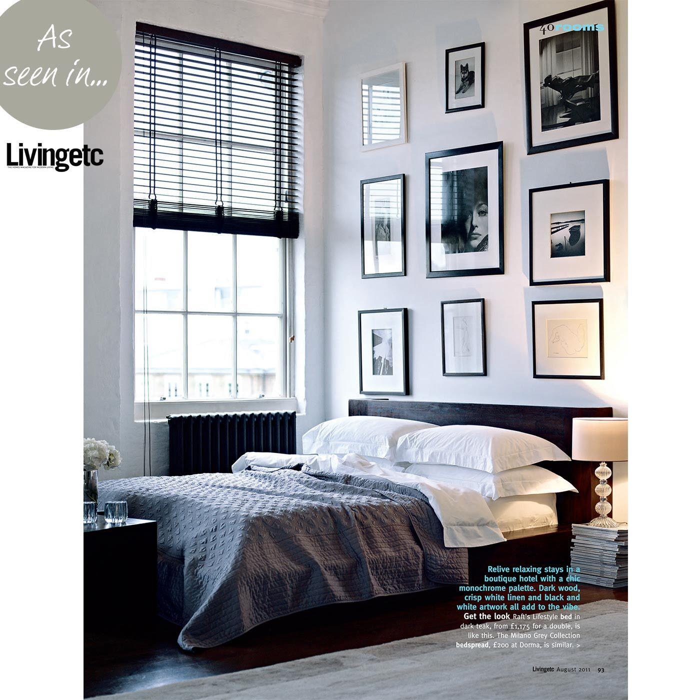 Monochrome wallslinen interiorsleep pinterest bedrooms teak