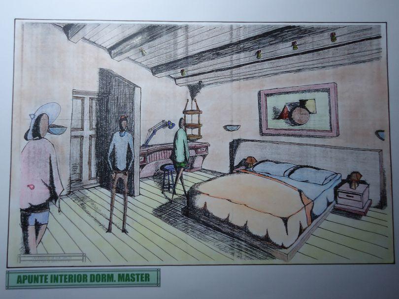 Resultado De Imagen Para Perspectivas Interiores De Una Vivienda Dormitorio Painting Art