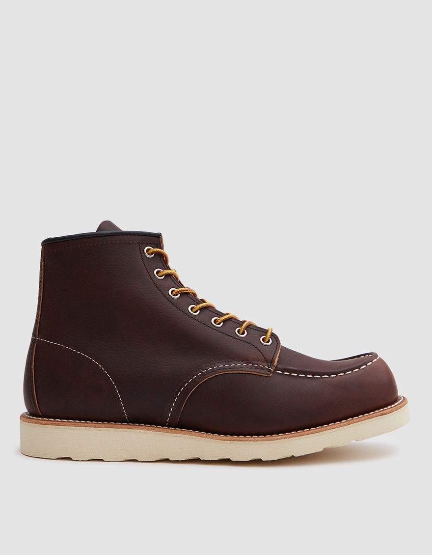 Red Wing Heritage Men S 8138 6 Inch Moc Shoes In Briar Oil Size 11 5 Leather Red Wing Shoes Goodyear Welt Womens Size Chart