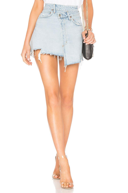 stylish design check out sale usa online AGOLDE Criss Cross Skirt in Broken | REVOLVE | Denim trends ...