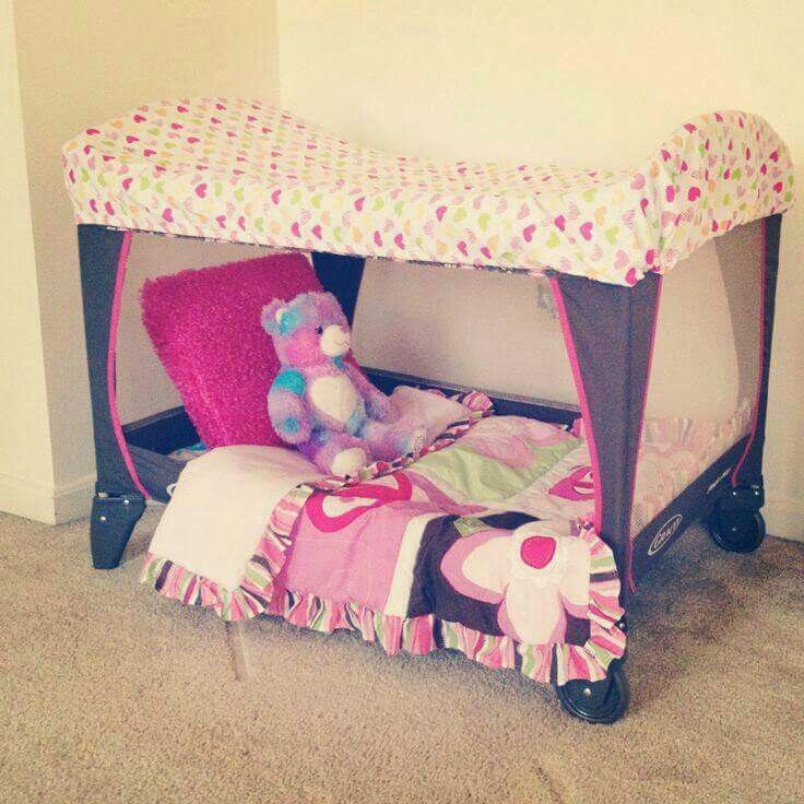 Baby Play Space Made From A Play Pen