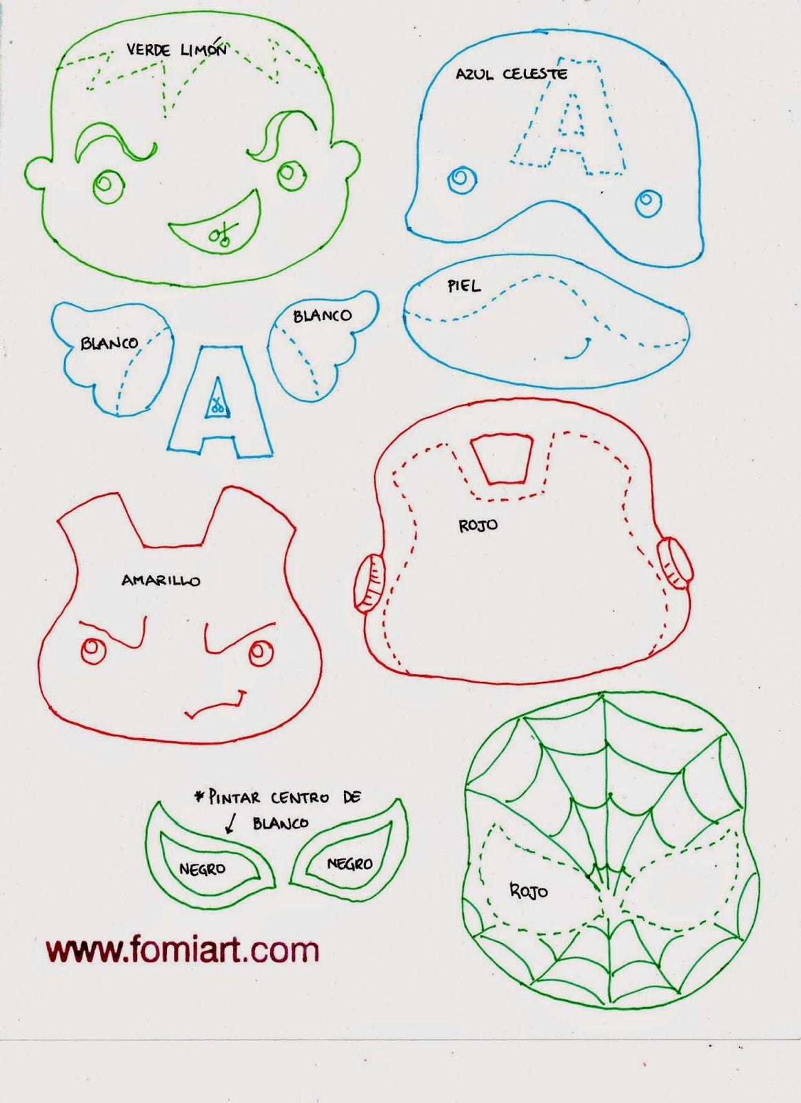 Patrones de Super Héroes Avengers en Miniatura | Fomiart | foami ...