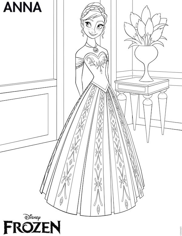 Free Frozen Printables Coloring Pages Invitations Thank You - elsa crown coloring page