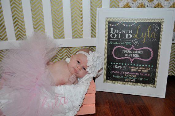 New Born Photo Shoot Chalkboard Prop Birth by SweetBeeCreates, $8.00