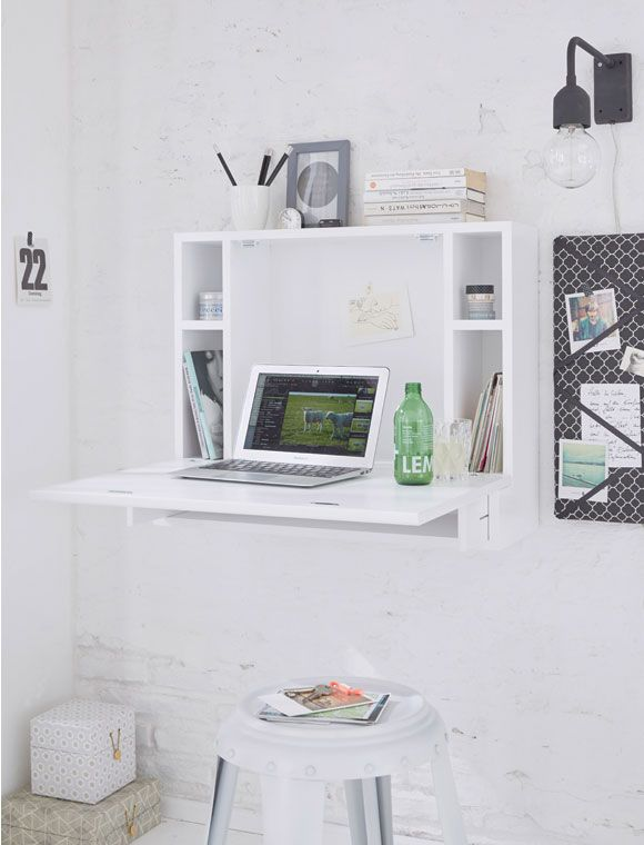 Arbetisplatz funktional und geräumig, zum wegklappen Klappbarer - amenagement interieur d en ligne gratuit