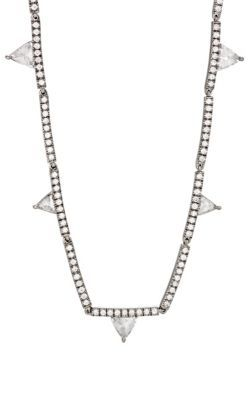 Eva Fehren Womens Trillion-Cut White Diamond Necklace TVDz1