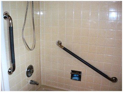 Bathroom Grab Bars Are Highly Beneficial To Elderly People As It Gives Support Move Around Without Falling Or Slipping Is Also Useful With