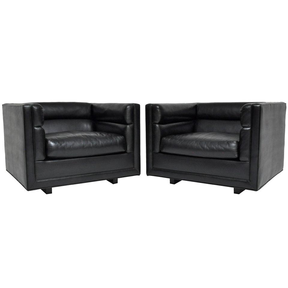 Dunbar Cube Chairs | Edward Wormley