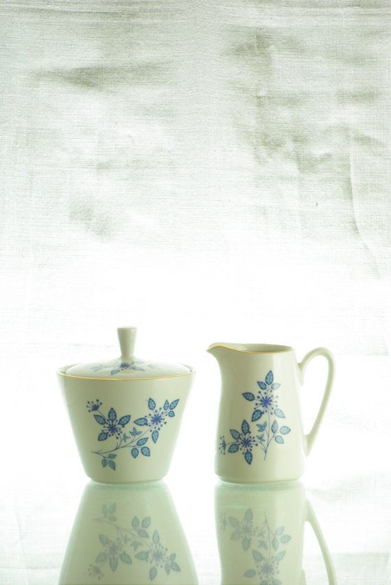 KAHLA cream and sugar set, DDR, GDR