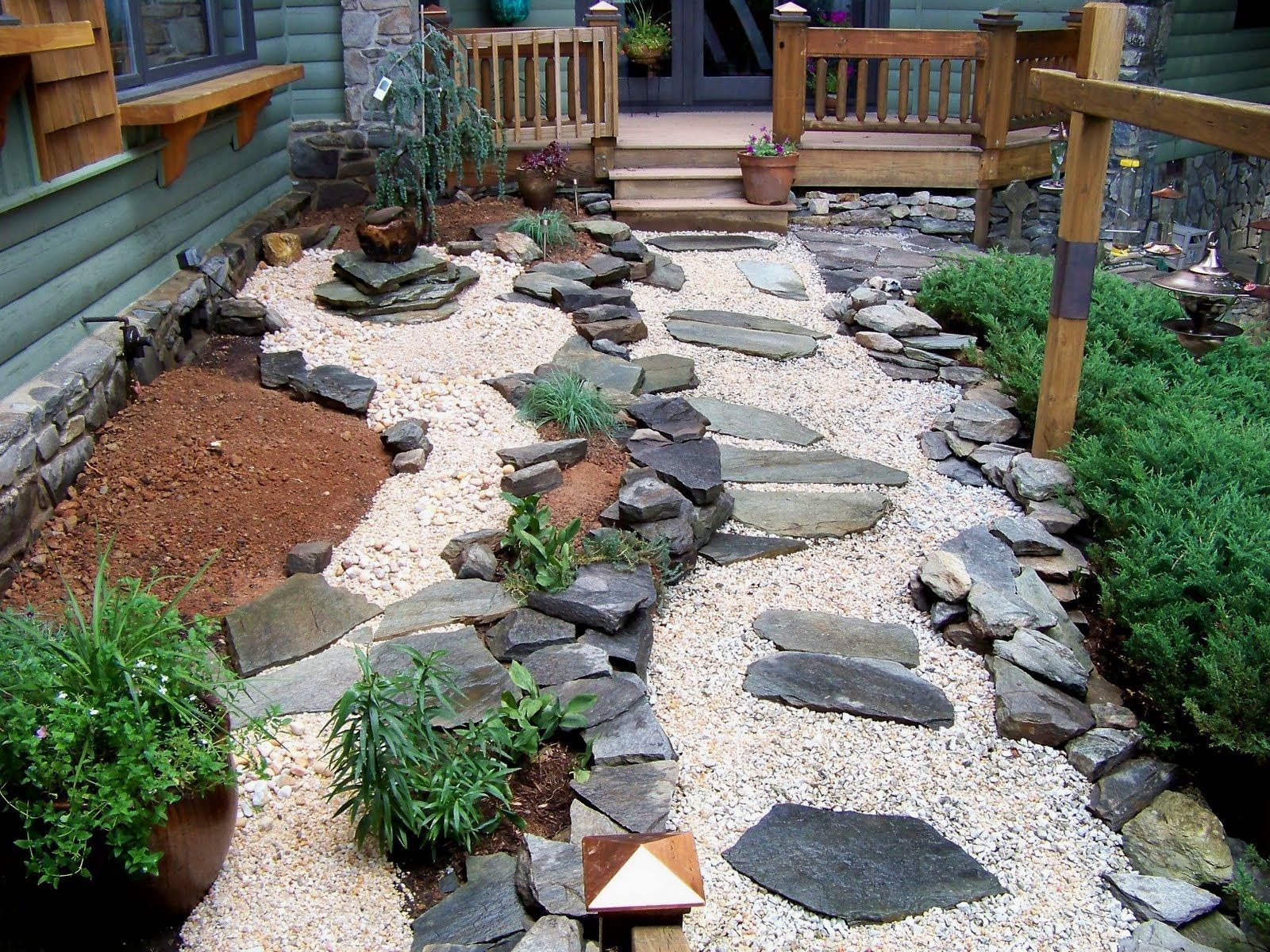 Exceptional Garden Design With Rock Garden Ideas Using Nature Exterior Accent Designing  City With Front Yard Landscapes. Small Japanese ...