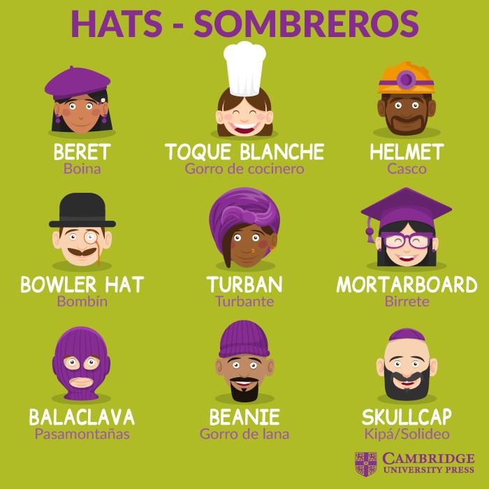 Hats Sombreros Libros Para Aprender Ingles Vocabulario En Ingles Ortografia En Ingles