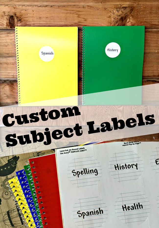 Hp Subject Labels Notebook Labels Avery Labels