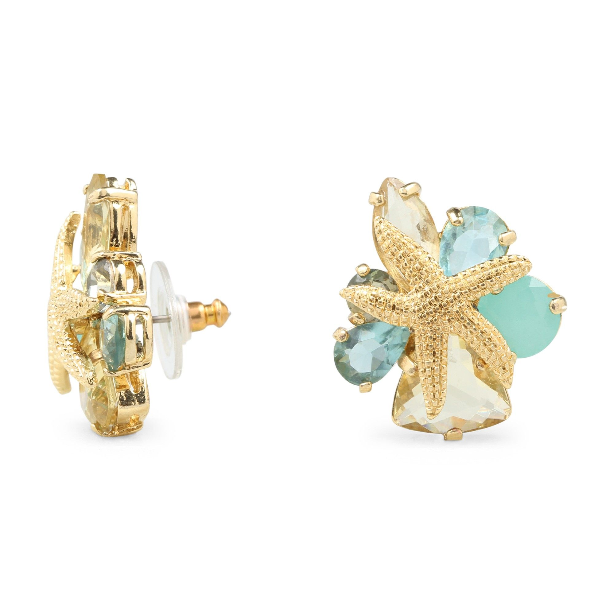 Love This Starfish Stones Stud Earrings For $48 On C Wonder