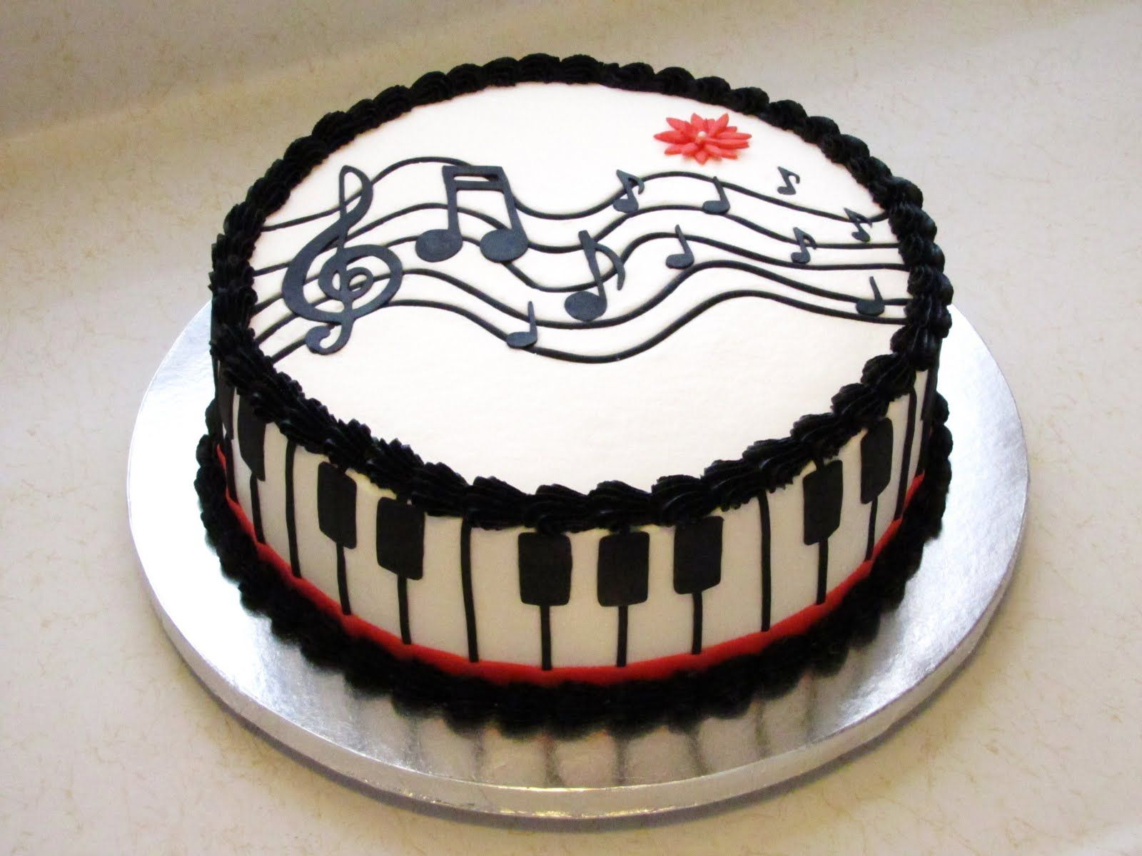 Piano Keyusic Notes Cake