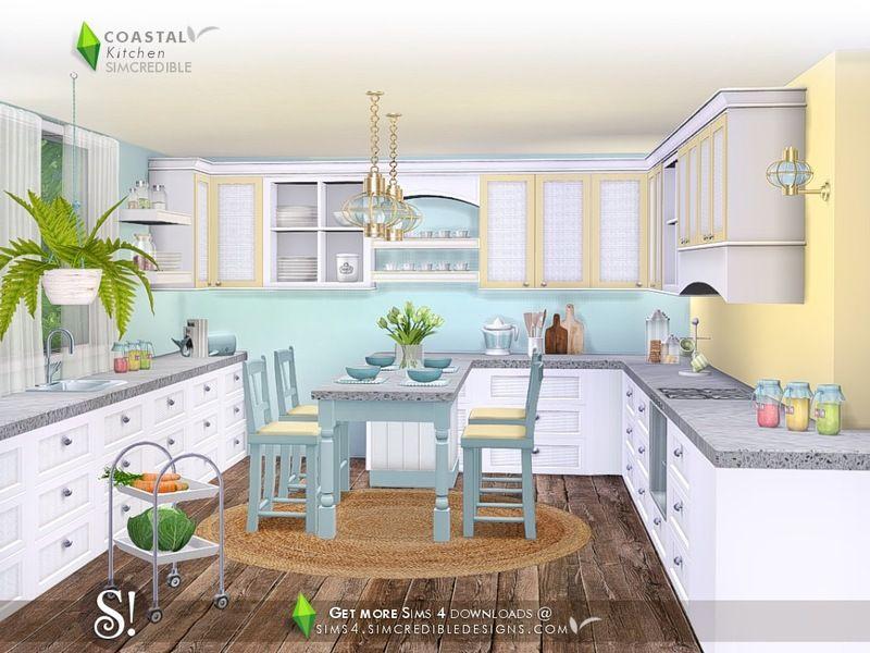 Simcredible S Coastal Kitchen With Images Coastal Decor
