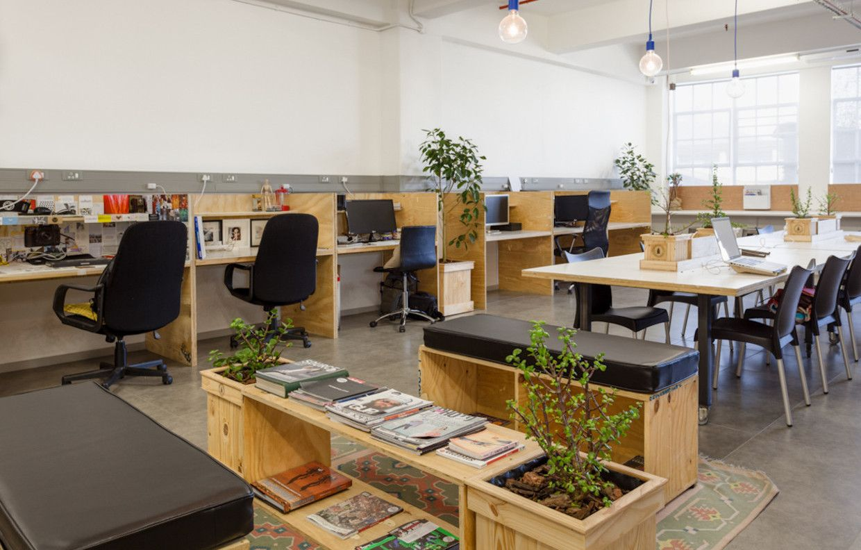 Coworking space the bureau photographic cape town Coworking space design ideas
