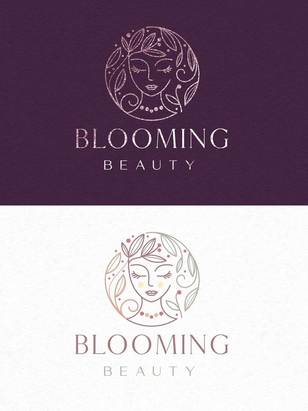 Blooming beauty logo template beauty logo logo