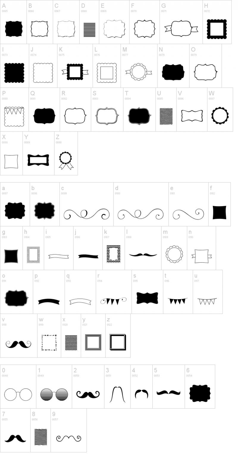 これいい!フォントで楽しむかわいいフレームや飾り枠など5種類(ttf